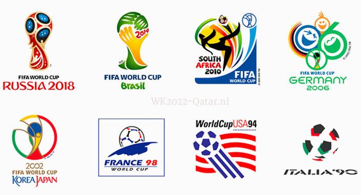 alle logos WK voetbal historie